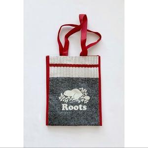 ROOTS Small Reusable Shopping Tote Bag